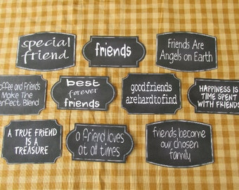 Friends Chalkboard Style Sticky Labels