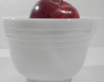 Vintage Milk Glass Mixing Bowl