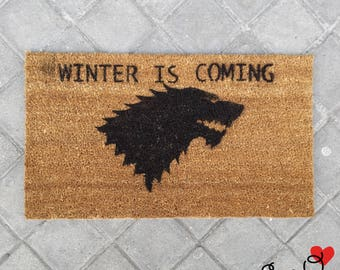 "Doormat GOT ""Winter is Coming"""