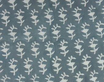 5 Yards Hand Block Print Fabric, Indian Cotton Fabric, Printed Cotton Fabric, Dabu Printed Fabric, Printed Fabric, Block Printed Fabric