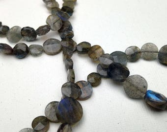 Labradorite circles necklace