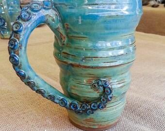 Tentacle Handle Mug Stoneware