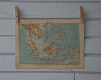 1939 Vintage Southeast Asia Map