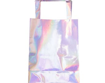Party Bags | Unicorn Party | Rainbow Party | Iridescent Party Bags | Paper Bags | Silver Party Bags | Treat Bags | Favour Bags | Birthday