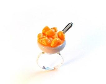 Mac'n'cheese Ring, Miniature Food Jewelry