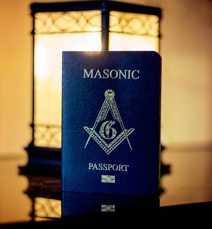 Pasaporte masónico azul real