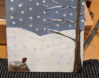 "Snowy field cute 5"" mini"