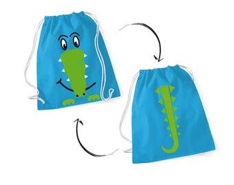 Sneak Bag Crocodile Blue