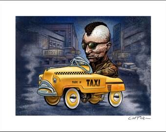 Taxi Driver Pedal Car- 11 x 14 Signed Print