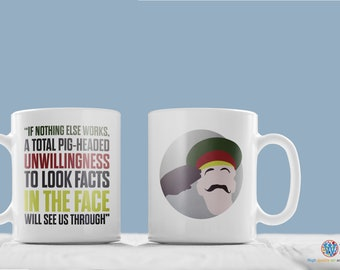 Blackadder General Melchett quote mug.