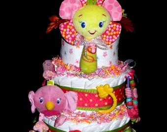 Pretty In Pink 2 Diaper Cake
