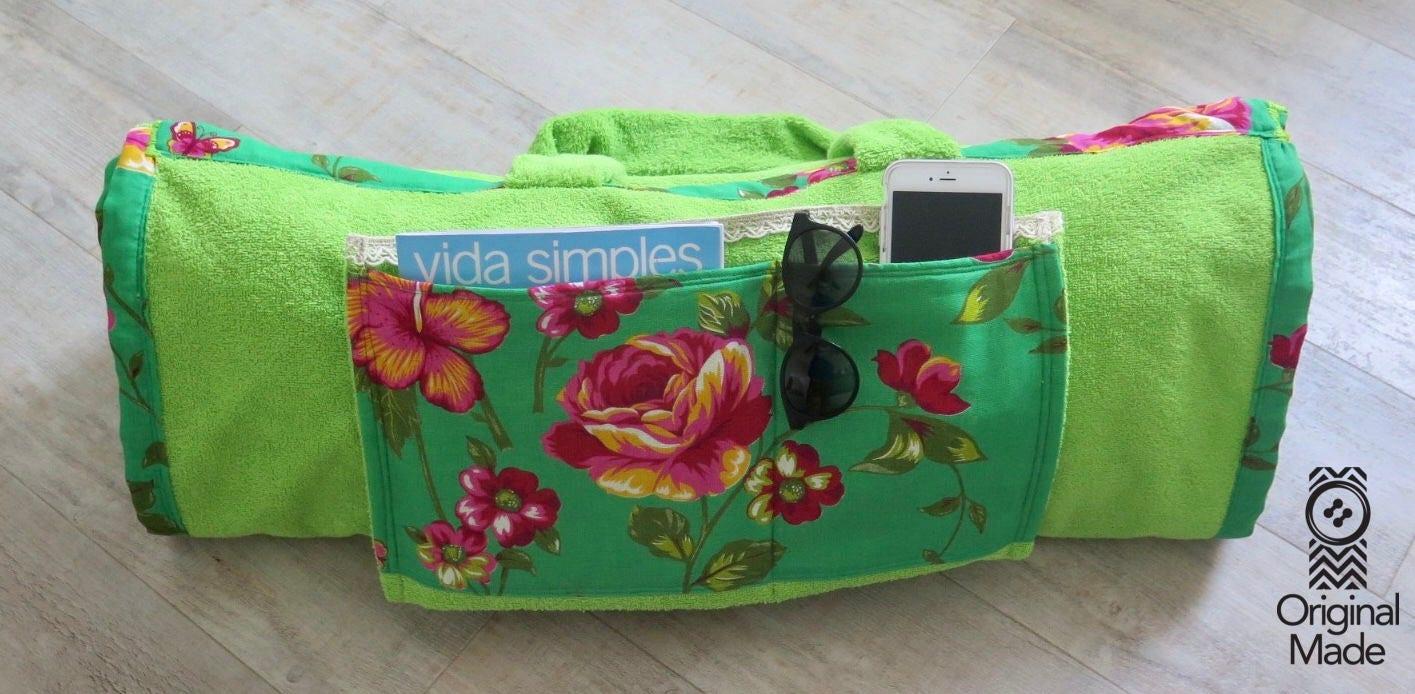strandtuch badetasche sac serviette de plage. Black Bedroom Furniture Sets. Home Design Ideas