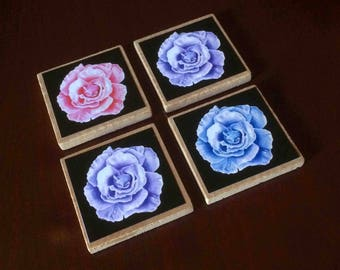 Rose Magnets (set of 4)