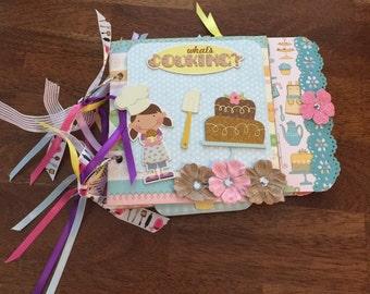 LITTLE BAKER Baking 6x6 Paper Bag Mini Scrapbook Album