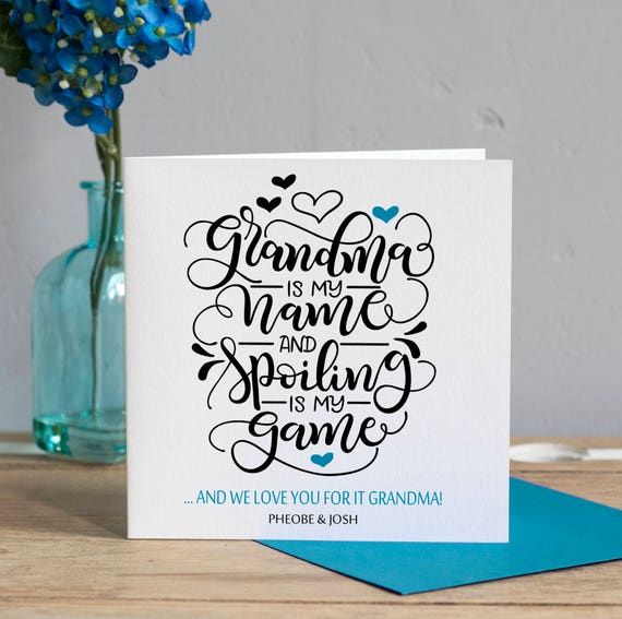 Grandma Birthday Card Grandma Mothers Day Card Grandma Card