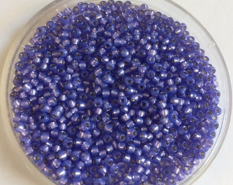 Japanese 11/0 Seed Beads  Beads -  Violet Opal Silver Lined