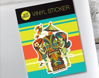 Menage A Tiki Vinyl Sticker