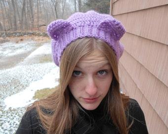 Crocheted Teddy Bear Beanie