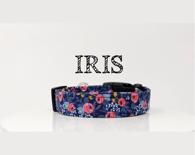 Featured listing image: Rifle Paper Co. Inspired Handmade Dog Collar | In Navy and Pink