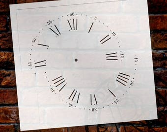 Nantucket Clock Stencil - Select Size -SKU: STCL406