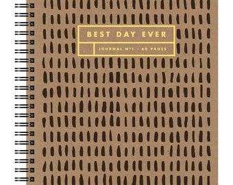 Letterpress Gold Foil Notebook, 365 Lines