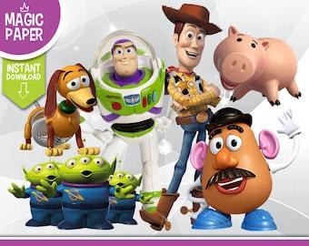 Toy Story Clipart - Digital 300 DPI PNG Images, Photos, Scrapbook, Digital, Cliparts, Decoration- Instant Download