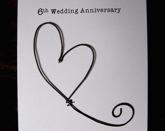 Th anniversary keepsake card lace lace with a single red
