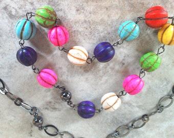 Dyed Howlite Bracelet