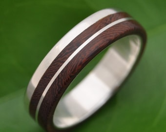 Size 13 READY TO SHIP Un Lado Asi Wood Ring - ecofriendly wood wedding band, mens wood wedding ring, wooden ring