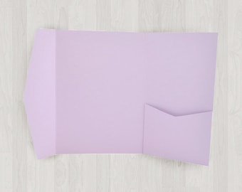 10 Large Vertical Pocket Enclosures - Light Purple - DIY Invitations - Invitation Enclosures for Weddings and Other Events