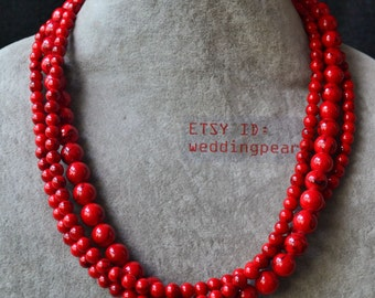 bead red jewellery make terracotta clay necklace beads jewelry to for how watch youtube gold making n