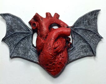 Batwing Heart Magnet