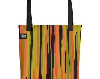 Orange Stripey - Tote bag