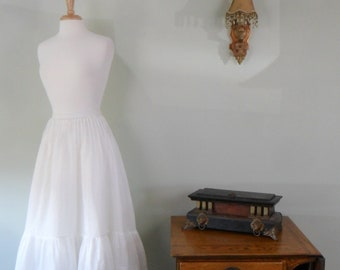 Late 1800s White Cotton Batiste Slip
