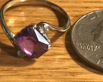 Vintage Amethst And silver ring size 7