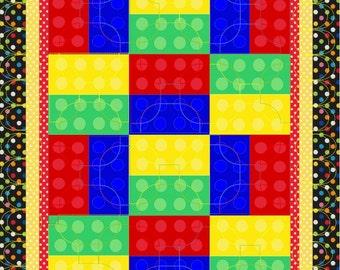 Baby Quilt Pattern   Color Block Quilt