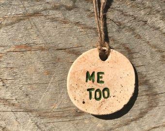 Me Too Ceramic Pendant Necklace (Green)