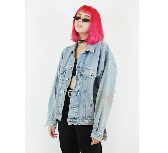 GUESS Vintage Jean USA Wash Unisex 90s Large 80s Designer Size Jean 80s Grunge Light Jacket Jacket Jacket Brands rnpqr4wC