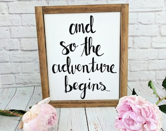 Adventure Framed Canvas Quote Sign