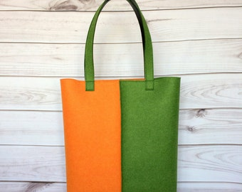 Felt Tote Bag, Felt Bag, Shopper, Womans Handbag, Easy Bag, Designer Felt Bag, Shoulder bag, Bags for women, Handbag felt,Minimal design bag