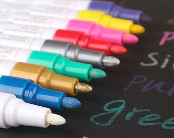 felt-tip marker Colorful pen color ink pen color marker  wedding photo pen golden sliver blue brown highlighter pen