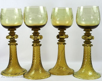 Antique Baroque Style Wine Goblets