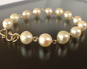 Akoya Pearl Bracelet On 14k Gold Fill