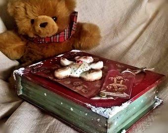 Handmade teddy bear box