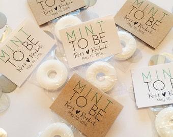 100 Wedding Favors, Mint to Be Wedding Favors, Mint Favors, Wedding Favor Mints, Personalized Wedding Favor, Rustic Wedding Favors