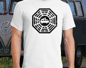 Van Life Dharma Shirt.  Volkswagen Vanagon Westfalia, Westy, Campervan, Camper Van, Camping, Get Lost.