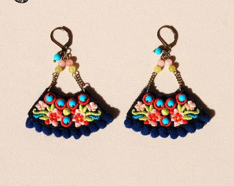Earrings Sara, bohemian spirit