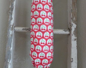 Plastic Bag Holder Made With Cherry Print Fabric