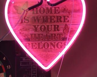 neon love hearts, ideal unique present