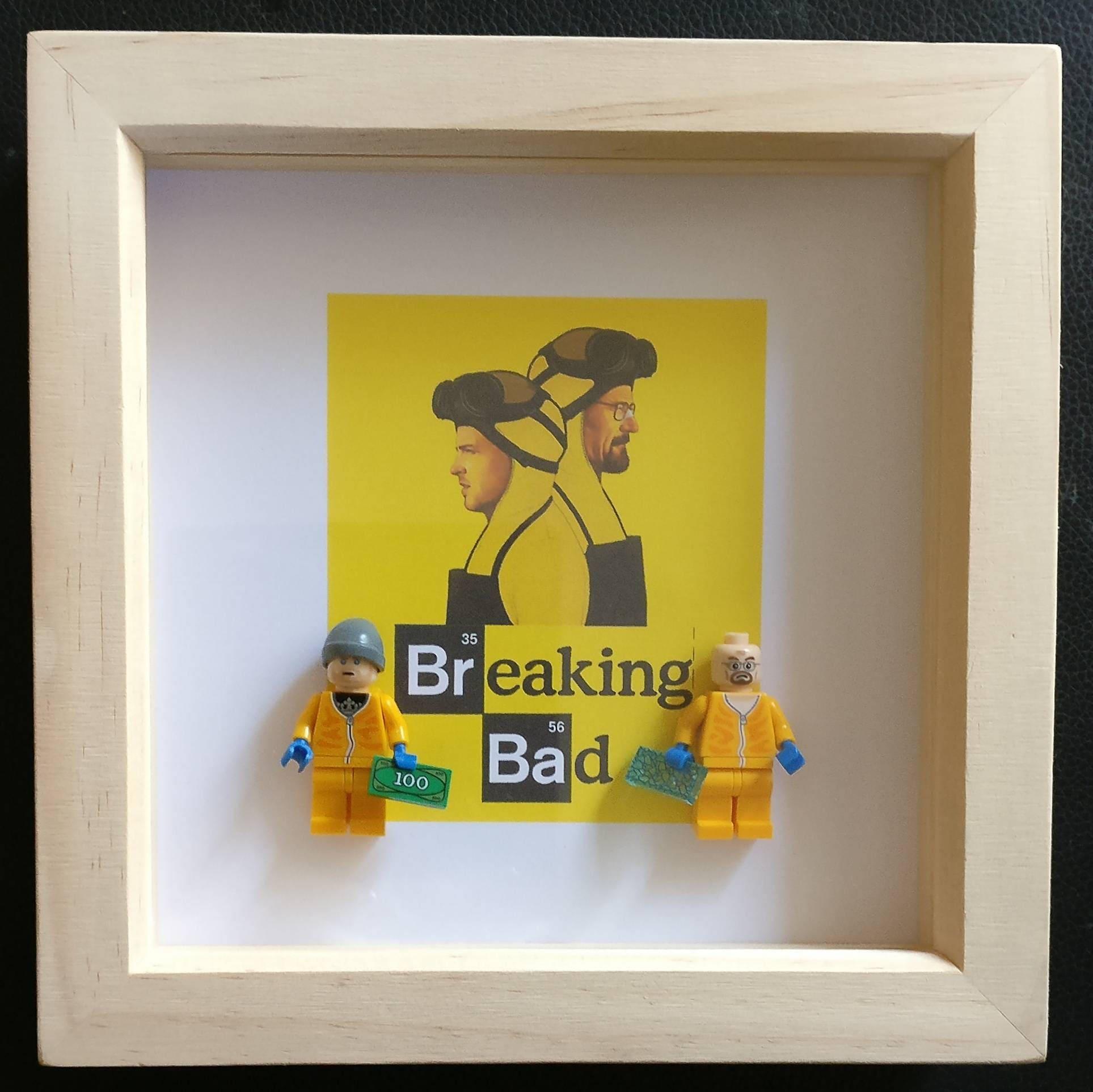 Lego inspired breaking bad walter and jesse minifigures framed description breaking bad jeuxipadfo Choice Image